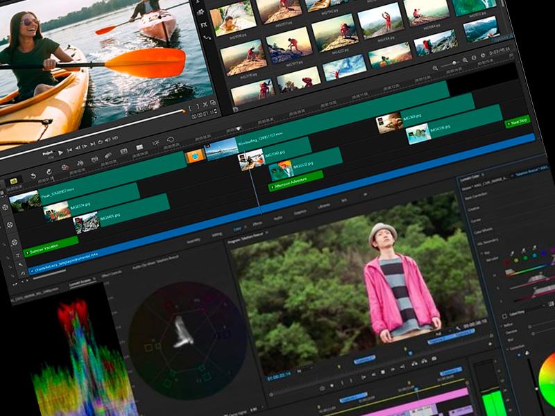 Programa para editar piezas audiovisuales