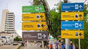 señalización en espacios urbanos