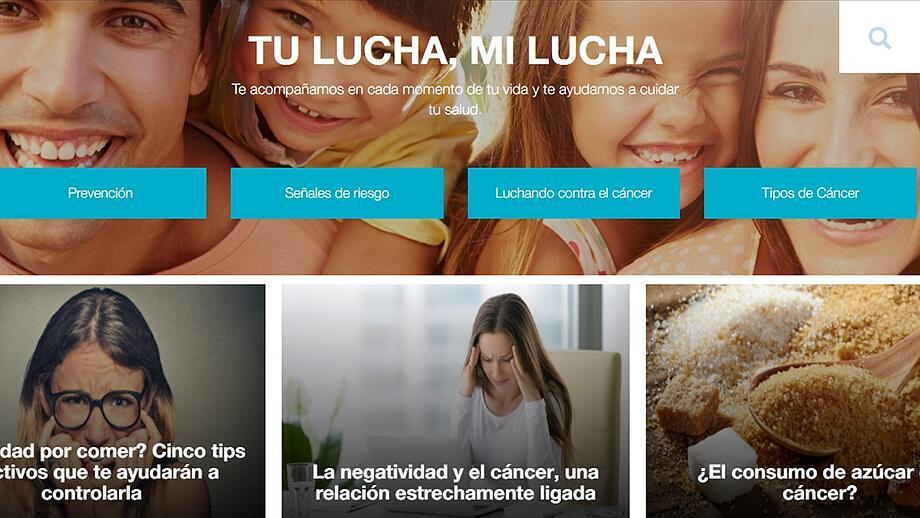 Portal de Oncosalud es ejemplos de inbound marketing
