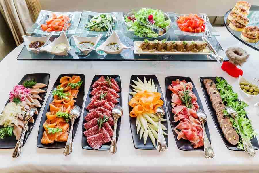 Comida en servicios de catering para eventos