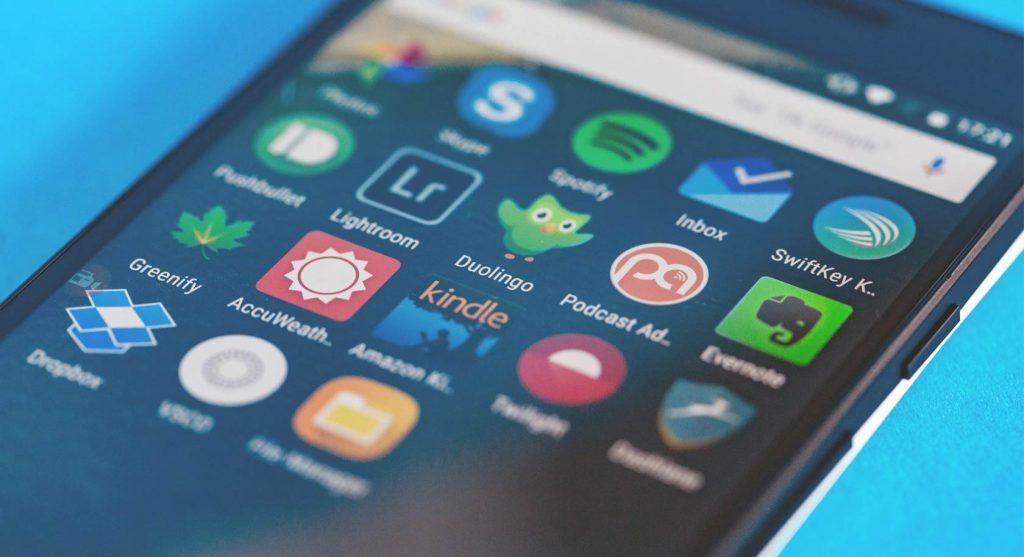Aplicaciones móviles descargadas en smartphone