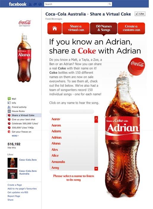 publicidad offline de Coca Cola